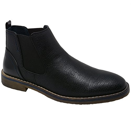 mens dress ankle boots black - 9