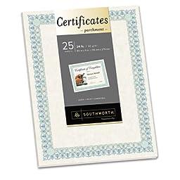Preprinted Certificate, 24lb, 8-1/2\