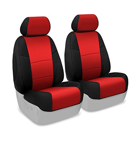 Coverking Custom Fit Seat Cover for Select Chevrolet Camaro Models - Spacer Mesh (Red with Black Sides)