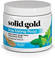 Solid Gold Stop Eating Poop for Dogs with Coprophagia; Natural, Holistic Grain-Free Supplement Chews and Powde