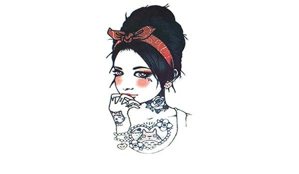 Handaxian Etiqueta engomada del Tatuaje del Brazo de la Flor ...