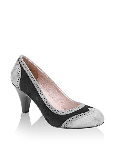 Zapatos da donna - 4262-suew Charcol Grey-Lt Grey