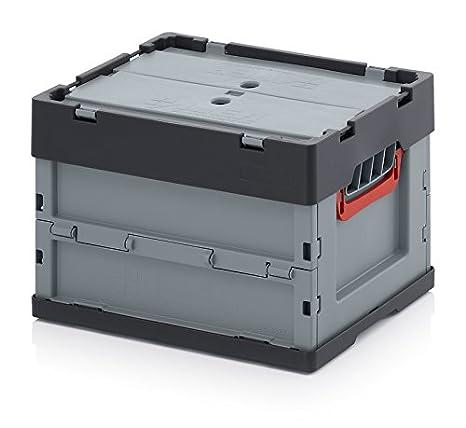 Faltbox Klappbox Aus Kunststoff 40x30x27 Cm Mit Deckel Gewerbe Industrie Wissenschaft