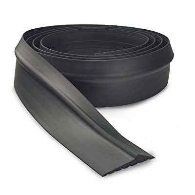 PMD Products Garage Door Bottom Threshold Weather Seal 14' to 16' Long Heavy Duty EPDM 16 Foot Can Be Cut to Size