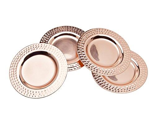 Godinger Round Coasters, Set of 4, Copper (Coaster Copper Wine)