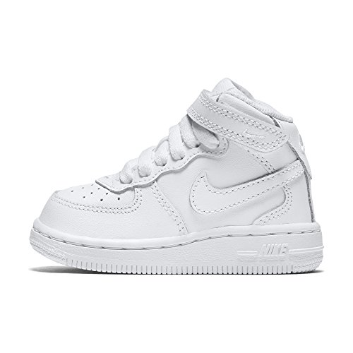 newest 3cdaf a54da Galleon - NIKE Toddlers Force 1 Mid (TD) White White White Basketball Shoe  9 Infants US