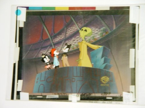 (Steven Spielberg Presents Animaniacs Animation Production Cel Featuring Yakko Wakko and Dot with an Alien hand on console Certificate of Authenticity with Original Background From Warner Bros. Approximately 14 x 11 Inches #3)