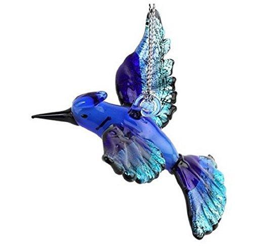 New Home Glass Ornament - Glassdelights Blue Jay Bird Glass Christmas Tree Ornament Decoration Animal New