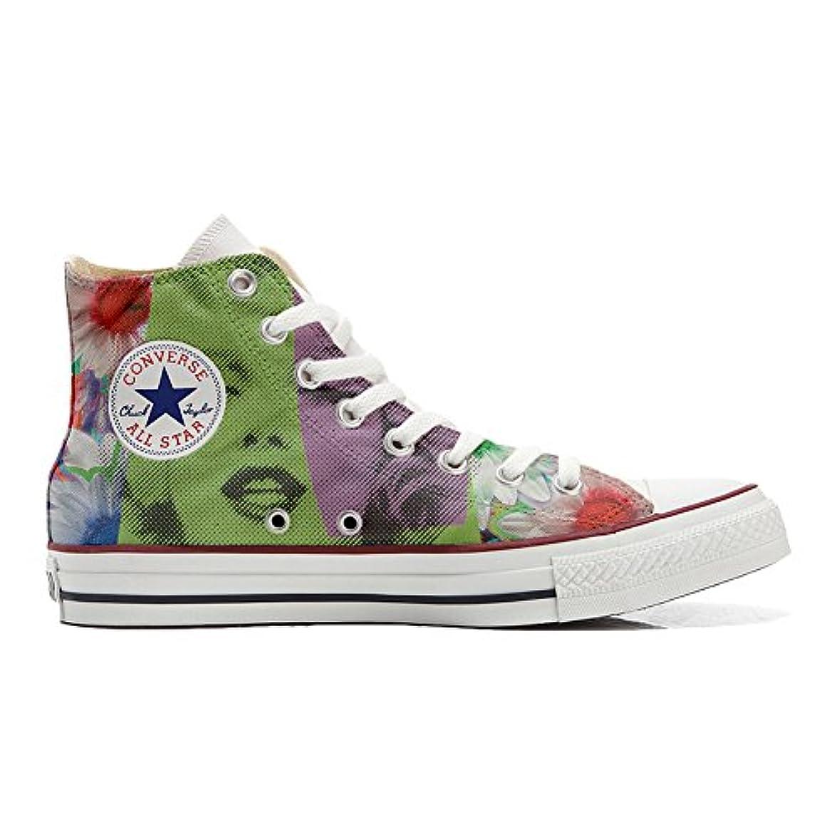 Scarpe Converse All Star Alte Personalizzate scarpe Artigianali Viso Marylin