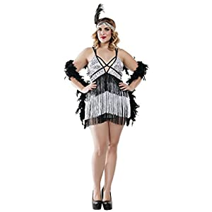 ff361d0f5e9 1920s Costumes. Women s Plus Size Boardwalk Flapper Roaring 20s Costume ...