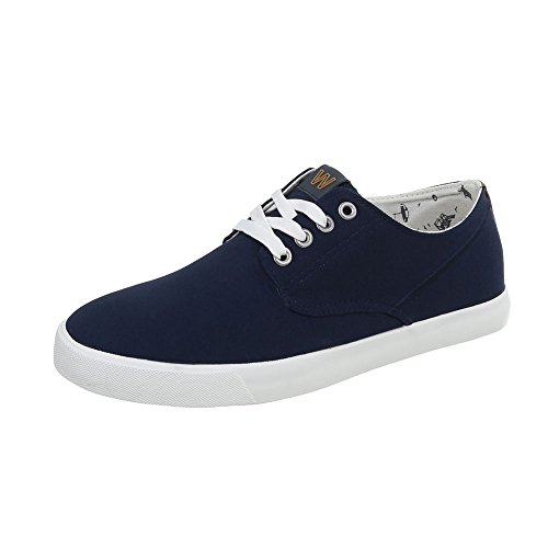 34 lacets Chaussures chaussures loisirs femme de basses Dunkelblau WD1619B Chaussures C OEwgqwT
