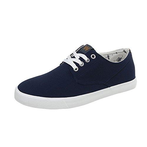 de basses Dunkelblau C WD1619B Chaussures 34 chaussures loisirs lacets Chaussures femme BSqZ88xt