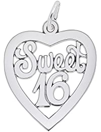 Sweet 16 Charm, Charms for Bracelets and Necklaces
