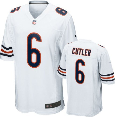 Chicago Bears Jay Cutler #6 NFL Big Boys Youth Game Jersey, White (X-Large ()