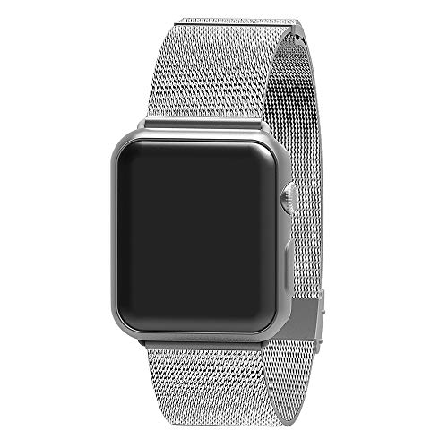 AWOOWELL for Watch Band 38mm 40mm,Stainless Steel Mesh Metal Loop with Adjustable Magnetic Closure Replacement Bands for Iwatch Series 4 3 2 1 Silver (Watch Band Wrist Mesh)