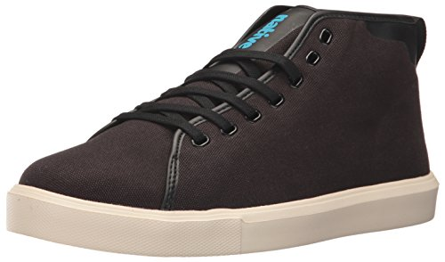 Monaco Moc (Native Men's Monaco Mid Wax Canvas Fashion Sneaker, Jiffy Black Wax/Bone White, 8 M US)