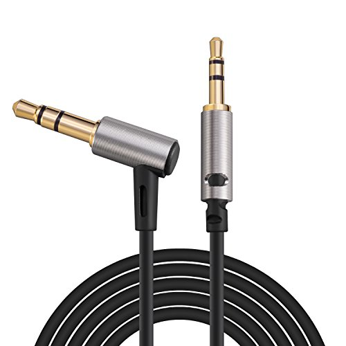 LASMEX Bose Headphone Cable 3.9ft, 2.5mm to 3.5mm Stereo Aux Cable Audio Replacement Cord Compatible with Bose QC35 QC25, Audio-Technica ATH-M50x M40x M30x, Sennheiser Momentum Headphones (1-Pack) ()