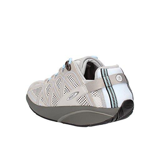 MBT Sneakers Donna 38 EU Grigio Celeste Tessuto