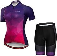 JPOJPO Women's Cycling Jersey Bike Shirt