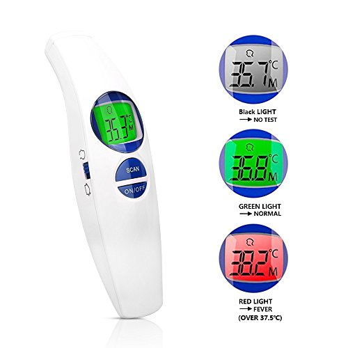 Forehead Thermometer,Sinvitron Digital Infrared non-contact Dual-Mode Thermometer,CE and FDA Approved,Suitable for Baby,Toddlers,Adults,object and Room Measurement