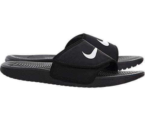 NIKE Kids' Kawa Slide Sandal, Black, 4 M US Big Kid