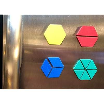 Dowling Magnets Foam Fun Magnet Pattern Blocks: Industrial & Scientific