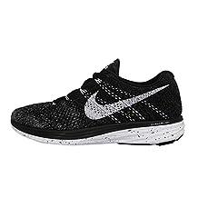 Nike Women's Wmns Flyknit Lunar 3, BLACK/WHITE-MIDNIGHT FOG-WOLF GREY, 12 US