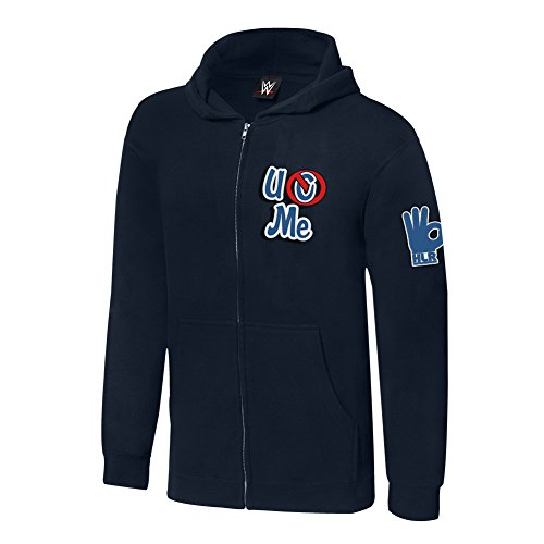 WWE John Cena Respect. Earn It Youth Lightweight Hoodie Sweatshirt Navy Blue Medium by WWE Authentic Wear