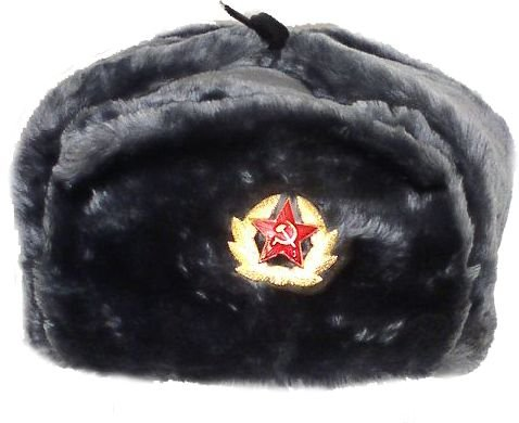 Hat Russian Soviet Army Air force KGB Fur Military Ushanka GR Size XL -