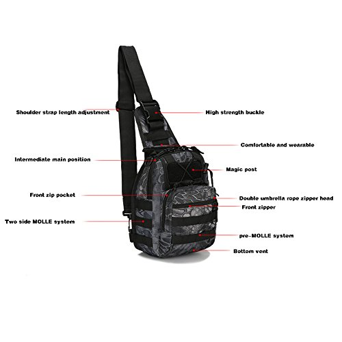 Yxlong Riding all'aperto Tactical Men Arrampicata Camouflage Small Chest aqu Black Portable Bag Army ZwIrZqf