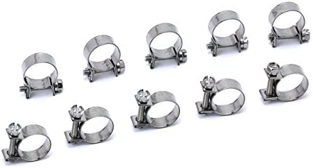Proflow 156-10BK Aluminium Hose /& Tubing Clamp Separator Clamp 16mm ID Hole Bla