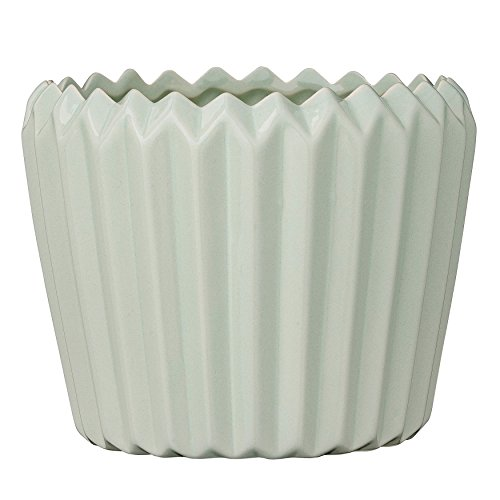 UPC 807472868431, Bloomingville Round Ceramic Fluted Flower Pot, Winter Mint