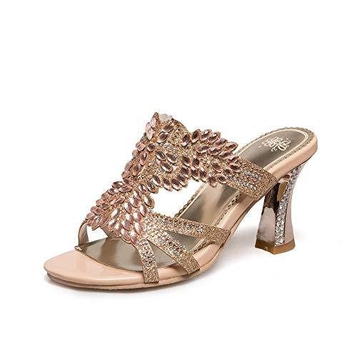 HOESCZS Bling Crytal Dekoration Appliques Sommer Graceful Sandalen Schuhe Schuhe Schuhe Frauen Große Größe 32-46, B07P7VYKTQ Sport- & Outdoorschuhe Jeder beschriebene Artikel ist verfügbar fd6f5a