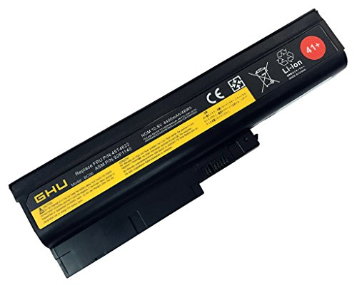 New GHU Battery 48 Wh Replacement 40Y6799 40Y6797 92P1141 Compatible with Lenovo ThinkPad T60 R60 92P1133 92P1137 92P1138 42T4511 42T4504 T500 42T4619 42T4620 40Y6795 R500 SL300 SL400 SL500