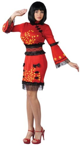 China Doll Adult Costume (Medium/Large)