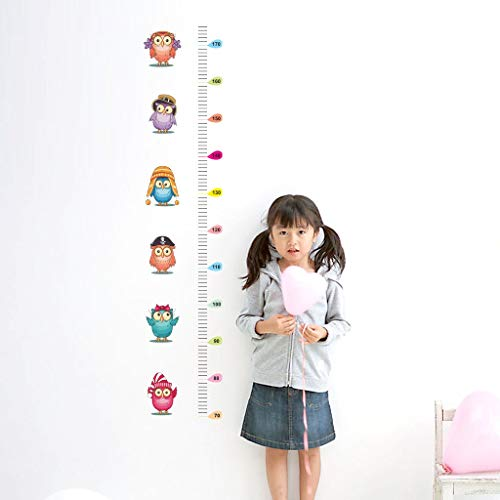 Midress Wall Stickers Bedroom Home Decoration Owl Kids Height Chart Wall Sticker Home Decor Cartoon Animal Height Ruler Removable (Multicolor) by Midress (Image #1)