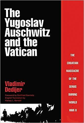 Croatia Jasenovac genocide Catholic accountability history crime violence war Nazi fascism books