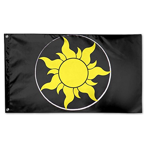 SIRLVLAY Tangled Sun Symbol Yard Flags 3 X 5 In Indoor&Outdo
