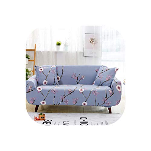 (Floral Printing Elastic Sofa Cover Tight Wrap All-Inclusive Slip-Resistant Furniture Slipcover Soft Sofa Towel,Color 4,Four-Seater)