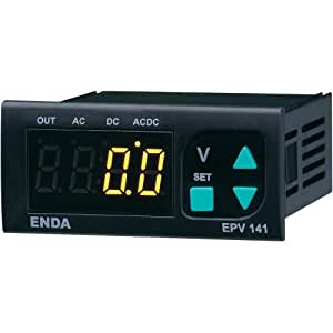 Enda EPV141-R-230 SW - Voltímetro digital programable (LED, ±500 V CA/CC, 70 x 29 mm para montaje)