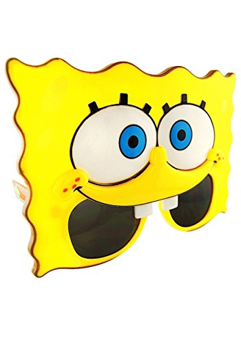 Sunstaches Nickelodeon Spongebob Squarepants Sunglasses, Party Favors, UV400