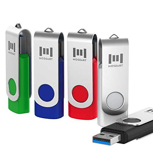 mosDART 5 X 16GB USB 3.0 Flash Drive High Speed Swivel Bulk Thumb Drives Fast - Stick Memory Samsung