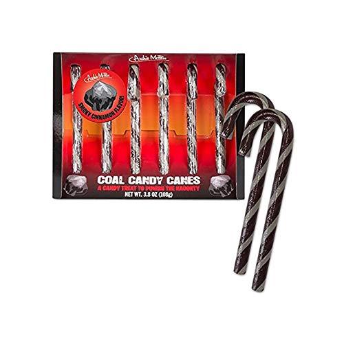 Coal Candy Canes 3.8 oz -