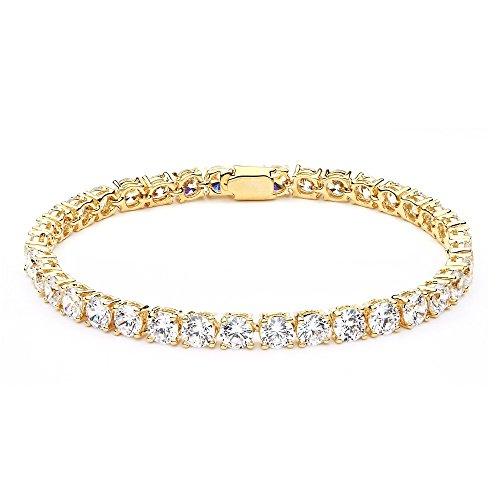 Plated Tennis Bracelet Cubic Zirconia