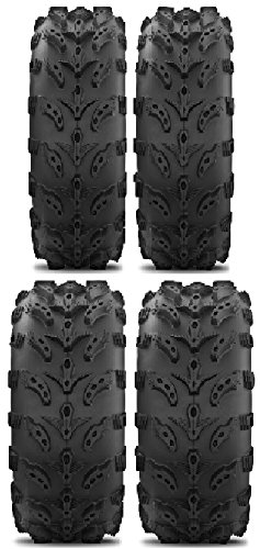 Full set of Interco Swamp Lite 25x8-12 and 25x10-11 ATV Tires (4)