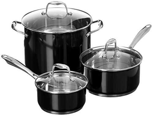 KitchenAid KCSS08OB Stainless Steel 8-Piece Cookware Set - Onyx Black
