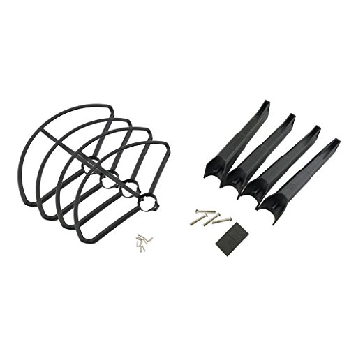 FidgetFidget Set Propeller Cover Ring + Landing Gear For Drone Parts