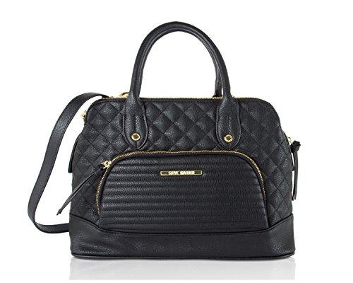 Steve Madden Blorraine Satchel Shoulder Handbag - Black (Steve Madden Woman Bags)