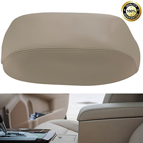 (Hoypeyfiy Fits 2007-2011 Toyota Camry Armrest Center Console Lid Cover Microfiber Leather Tan Beige((Leather Part only))