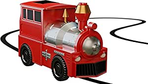 Magic Inductive Toy Truck [Follows Black Line] Car for Kids & Children - Best Toddler Toys - Mini Train Follow [Red Train]